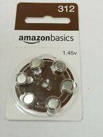 AmazonBasics Hearing Aid Batteries Size P 312 1.45v Mercury Free Zinc Air 1 pack