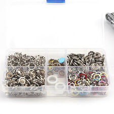 9.5mm 110pcs 7 Colors Metal No Sewing Press Studs Poppers Buttons Snap Fastener