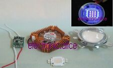 10W UV 395-400nm High Power LED + 10w Driver + 50mm Lens+10w Heatsink 1set