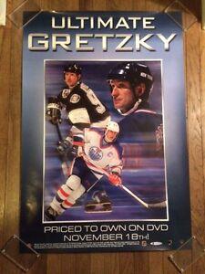 ULTIMATE WAYNE GRETZKY DVD POSTER 2003 SUPER RARE 27X39