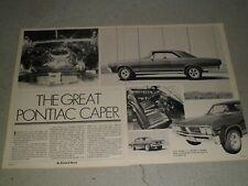 1967 PONTIAC BEAUMONT CUSTOM AD / ARTICLE