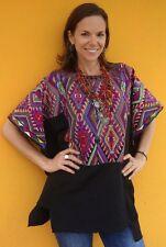Ethnic Maya Woman's Vintage Geometric Huipil/Poncho: Chichicastenango, Guatemala