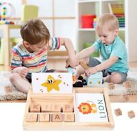 Cognitive Matching Letter Game Wooden English Alphabet Card Game Educational Toy