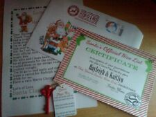 Personalised letter from Santa 2020 & Nice List Certificate + FREE magic key