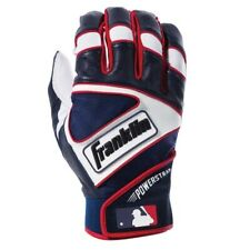 Franklin Powerstrap Batting Gloves - Pearl/Navy/Red - S