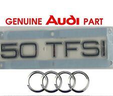 Genuine Audi 50 TFSI rear boot lid hatch badge emblem.  A5 A6 A7 A8 OEM  G2