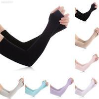 Unisex Summer Ice Silk Cool Anti UV Sun Protect Long Sleeve Fingerless Gloves