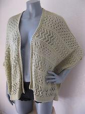 NEW Womens Canyon River Blues Size L Khaki Tan Pointelle Cape Cardigan Sweater