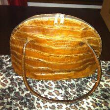 Vintage Carlos Falchi Alligator Dome Bag