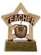 Paquete De 10 profesores Regalo De Resina Mini Star trofeo un * 8 cm A1110 Gratis Grabado GMS
