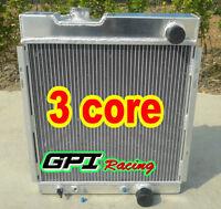 3 CORE FOR FORD MUSTANG V8 289 302 WINDSOR ALUMINUM RADIATOR 64 65 66