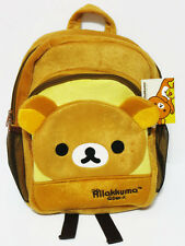 "Rilakkuma 12x9"" Plush Brown Backpack Bookbag School Bag"