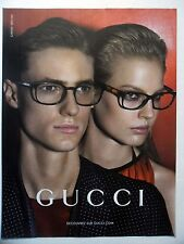 PUBLICITE-ADVERTISING :  GUCCI Lunettes  2014 Homme,Femme