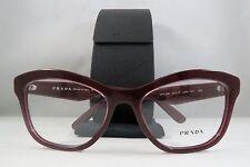 Prada VPR 29R UAN-1O1 Shiny Burgundy New Authentic Eyeglasses 54mm w/Case
