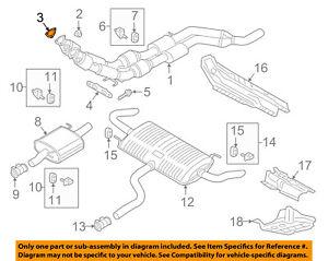 VW VOLKSWAGEN OEM 12-18 Passat 3.6L-V6 Exhaust-Converter & Pipe Gasket 3C0253115
