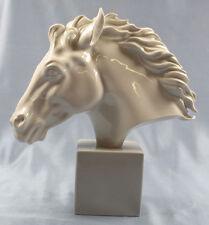 Büste Pferdekopf pferd Porzellan Edelstein figur Pferdefigur araber kopf rar