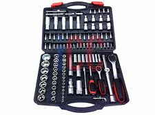 "111pc socket set PRO QUALITY 1/4 1/2 inch 1/4"" 1/2"" drive metric case TOOL KIT"