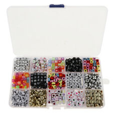 1100 Pieces Acrylic Number Alphabet A-Z Beads for Bracelets Necklaces Making