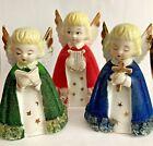Vintage  Commodore Flocked SINGING CHOIR ANGELS Christmas Figurine JAPAN