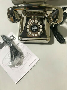 Pottery Barn Crosley Kettle Classic Desk Phone Brushed Chrome NEW