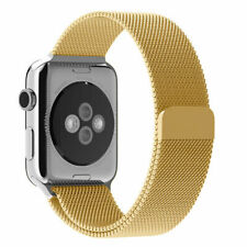 GOLD Milanese Stainless Steel Band Strap for Apple Watch 38MM 40MM 42MM & 44MM