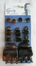 12 Goody Classics Claw Clip Combo Micro Small Adrienne Medium Jaw Hair Clips Set