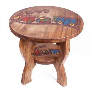 Kinder Tisch Eisenbahn Zug Kinderzimmer Kindertisch Holz Hocker Sitzgruppe neu