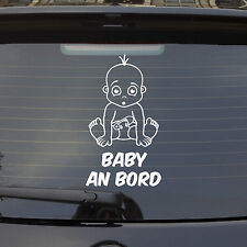 Auto Aufkleber Baby an Bord on Tour LUSTIG süßer Junge Kids Sticker 1114