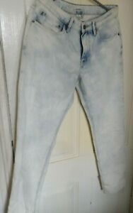 Womens Roxy New Bleached Distressed Jeans Trousers - Size  W 30 UK 10