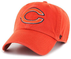 CHICAGO BEARS NFL ORANGE LEGACY DAD STRAPBACK CAP HAT CLEAN UP NEW! '47 BRAND