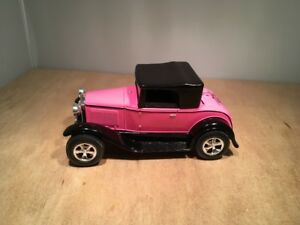 PINK FORD MODEL A STREET ROD ROADSTER - DIE CAST BANK by LIBERTY #1563