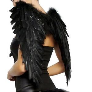 Adult Angel Devil Fairy Feather Wings Halo Fancy Dress Costume Outfit Hens Party