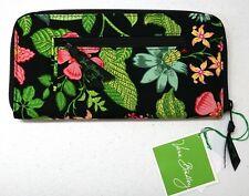 NWT $42 Vera Bradley Travel Organizer Botanica Retired Rare Black Pink Green NEW