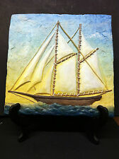 Sail Boat Wall Hanging- By J.K. Klinginsmith From Jekyll Island, Ga