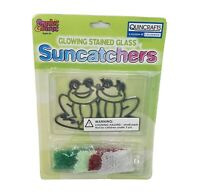 VINTAGE MAKIT & BAKIT SUNCATCHER MAKE YOUR OWN GLOW IN DARK STAINED GLASS FROGS