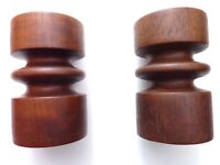 Candle Holders/Classic/Turned Wood/Pillar/Pedestals/Shabby Cottage/BoHo Chic/ 2