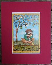 """Mary Engelbreit Print Matted 8 x 10 """"Dear"""" Autumn Deer"""