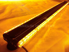 "59"" DOUBLE SIDE 360W LED WORK LIGHT BAR BEACON WARNING STROBE LIGHT YELLOW 150CM"