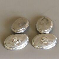 Art Deco Palladium Topped 14K Gold Diamond Cufflinks J R Wood & Sons 1920s