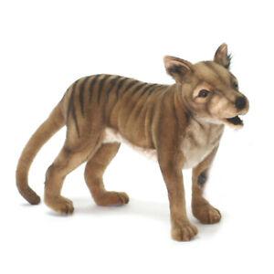 Tasmanian Tiger Wolf Hansa Realistic Animal Plush Toy 35cm **FREE DELIVERY**