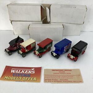 5 Collectable Vintage Lledo Die Cast Models Walkers Crisps Vans Advertising VGC