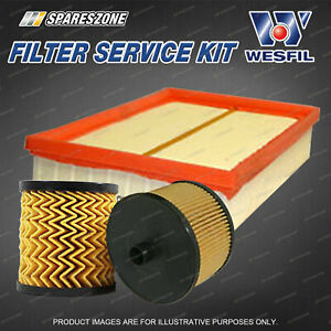 Wesfil Oil Air Fuel Filter Service Kit for Peugeot 307 T6 2.0L HDi 10/05-06/08