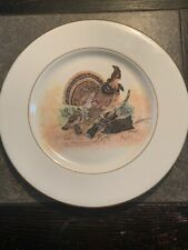 1974 25th Anniversary Sarah Coventry By Rex W. Wood Collectors Plate Grouse/Part