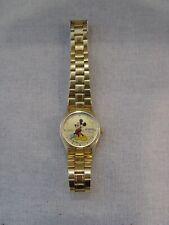 Vintage Seiko Japan Gold Tone MICKEY MOUSE Women's Watch Sunburst Face 780644