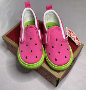Vans Slip On V Watermelon Toddler Size 7c