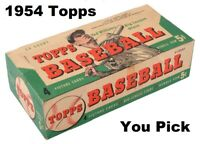 1954 Topps (YOU PICK) Single Cards 1 - 75, All Pictured Front and Back