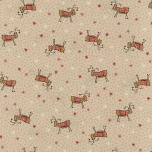 Lynette Anderson Scandinavian Christmas Reindeer Fabric100% COTTON per 1/4 metre