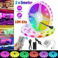 10M 32FT 3528 SMD RGB 600LEDs LED Light Strip+44Key IR Remote Control+12V Power