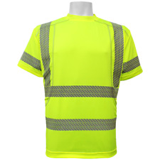 Hi Visibility athletic shirt, short sleeved, Class 3, Size: 2XL,  #GLO-205-2XL