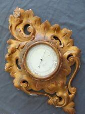 Superbe ancien Baromètre Cartel Bois doré Rocaille 49cm / Gilded wood Barometer